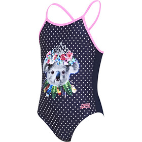 Zoggs Tribal Koala Classicback Swimsuit Girls navy